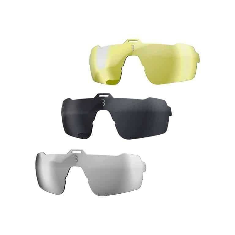 fiets sportbril Commander mat neon geel, BSG-61