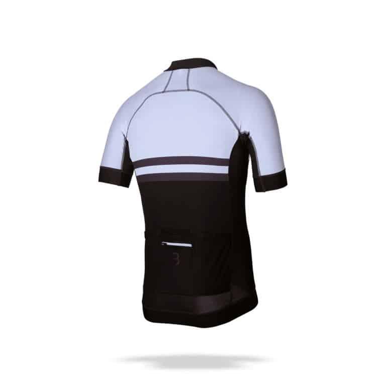 Fiets shirt Attachi s.s. wit/zwart, BBW-401