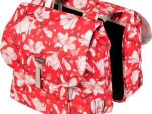 Basil dubb tas Magnolia poppy red